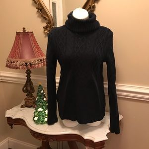 Navy Blue Turtle neck sweater